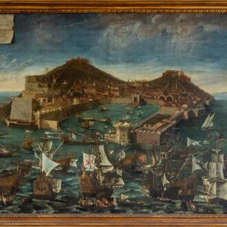 Giuseppe Maria Terreni, Veduta delle Fortezze Stella e Falcone all'Isola d'Elba, Forte Falcone
