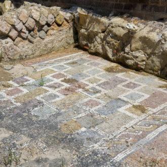 Mosaico, Villa Romana della Linguella, Comune di Portoferraio